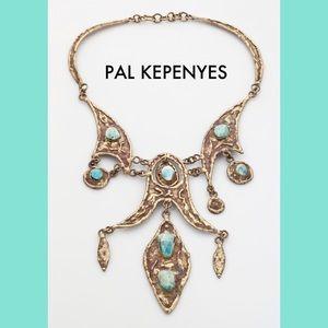 Pal Kepenyes Jewelry - PAL KEPENYES Surrealist Brutalist Necklace